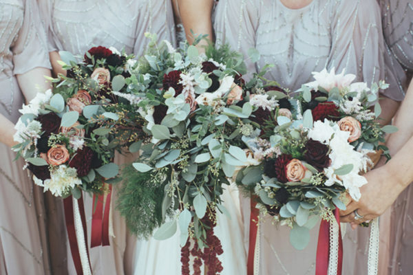 Bridesmaid bouquets