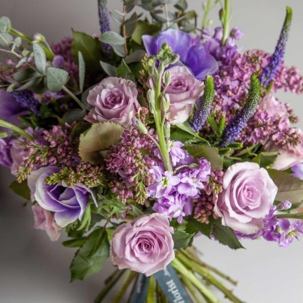Stock Florist Bouquet Purple pastel