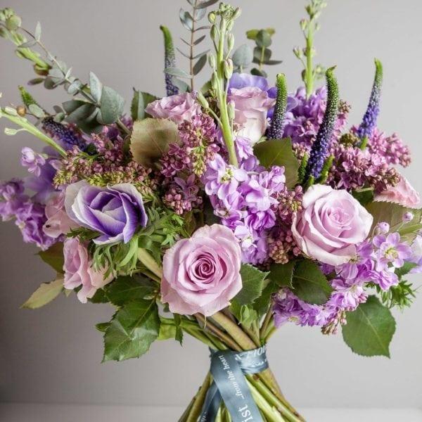 Stock Florist Bouquet Purple pastel 2
