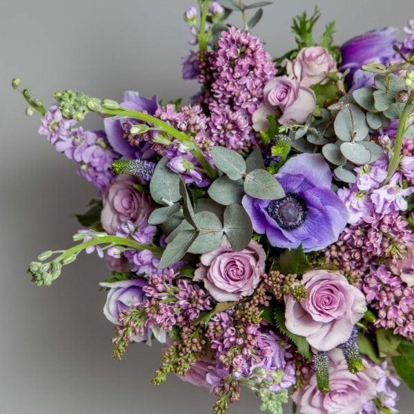 Stock Florist Bouquet Purple pastel 3